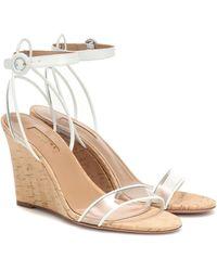 Aquazzura Minimalist 85 Wedge Sandals - White