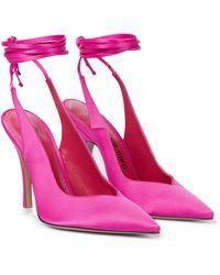The Attico Pumps Venus 105 aus Satin - Pink