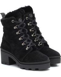 Bogner Belgrade Suede Ankle Boots - Black