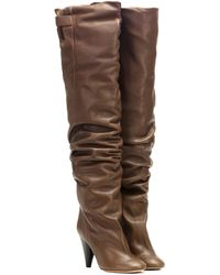 Isabel Marant Likita Leather Over-the-knee Boots - Brown
