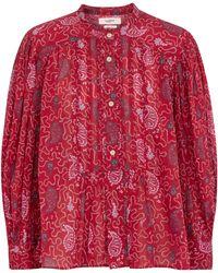 Étoile Isabel Marant Blusa Adigra de algodón estampada - Rojo