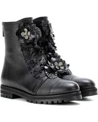 Jimmy Choo Havana Flat Leather Boots - Black