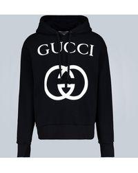 Gucci Kapuzenpullover mit GG - Schwarz
