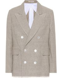 Golden Goose Deluxe Brand - Double-breasted Linen Jacket - Lyst