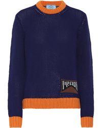 Prada Pullover aus Kaschmir - Blau