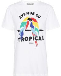 Être Cécile Tropical Cotton T-shirt - White