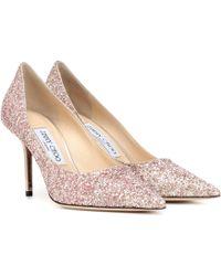 Jimmy Choo Love 85 Glitter Pumps - Pink
