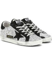 Golden Goose Deluxe Brand Sneakers Superstar mit Glitter - Schwarz