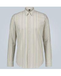 Fendi Striped cotton shirt - Neutro