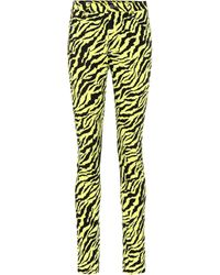 Gucci - Tiger Stripe Cotton Blend Skinny Jeans - Lyst