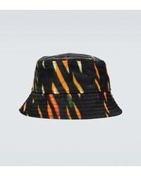 Dries Van Noten Sombrero de pescador estampado - Negro