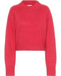 Co. Cropped Cashmere Jumper - Pink