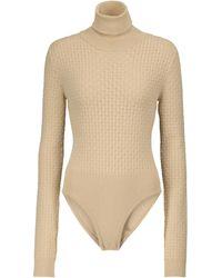Nanushka Peri Turtleneck Bodysuit - Natural