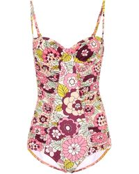 Dodo Bar Or Floral Swimsuit - Pink