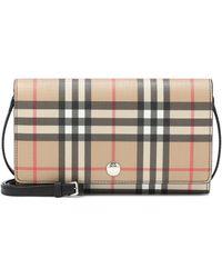 Burberry Vintage Check Shoulder Bag - Black