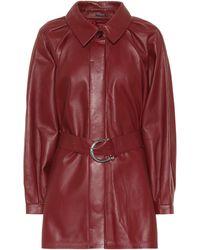 Dodo Bar Or Minikleid aus Leder - Rot