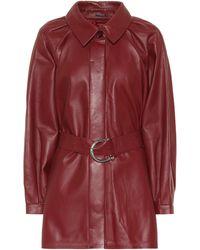 Dodo Bar Or Leather Mini Shirt Dress - Red