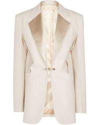 Givenchy Blazer en laine - Neutre