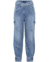 RTA Dallas High-rise Cargo Jeans - Blue
