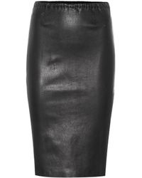 Stouls - Gilda Leather Pencil Skirt - Lyst