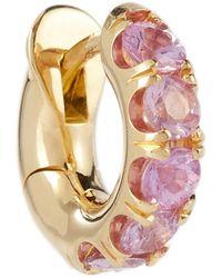 Spinelli Kilcollin Exclusivo en Mytheresa - argolla Mini Macro Hoop oro de 18 ct con zafiros rosas - Amarillo