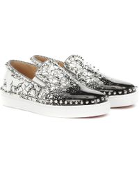 Christian Louboutin - Exclusive To Mytheresa – Pik Boat Woman Leather Sneakers - Lyst