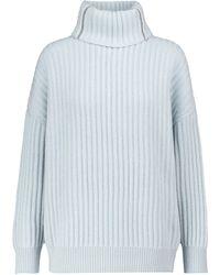 Brunello Cucinelli Jersey de cachemir de cuello alto - Azul