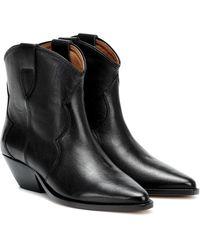 Isabel Marant Stiefel Dewina aus schwarzem Leder