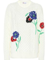 RED Valentino Embroidered Cotton Sweater - Multicolor