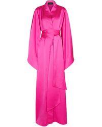 Rasario Stretch-satin Gown - Pink