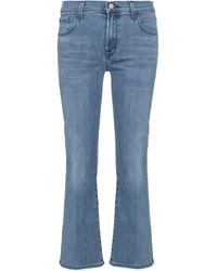 J Brand - Mid-Rise Cropped Jeans Selena - Lyst