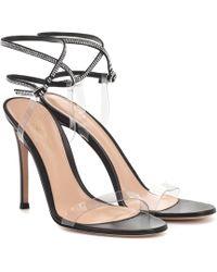 Gianvito Rossi Exclusivité Mytheresa – Sandales 105 en cuir à cristaux - Noir
