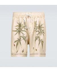 Amiri Bedruckte Shorts aus Seide - Natur