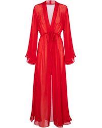 Alexandra Miro Exclusive To Mytheresa – Betty Silk Kaftan - Red