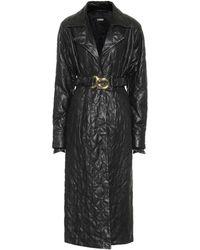 Dodo Bar Or Robe en cuir matelassé - Noir