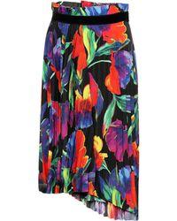 4c110cdb0b30 Balenciaga - Pleated Floral Crêpe Skirt - Lyst