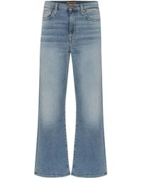 7 For All Mankind - Alexa Cropped High-rise Flared Jeans - Lyst