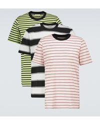 Marni Set di 3 T-shirt a righe - Multicolore