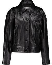 Philosophy Di Lorenzo Serafini Leather Jacket - Black