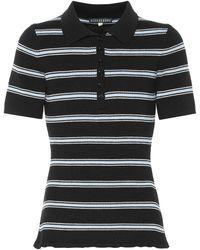 ALEXACHUNG Camisa de lana de rayas - Negro