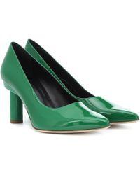 Tibi Zo Patent Leather Pumps - Green