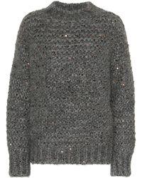 Brunello Cucinelli Pullover aus einem Mohairgemisch - Grau
