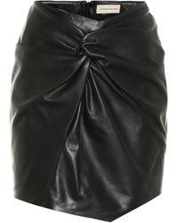 Alexandre Vauthier Mini-jupe en cuir - Noir
