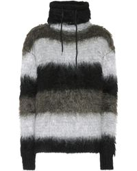Saint Laurent Oversized Mohair-blend Jumper - Black