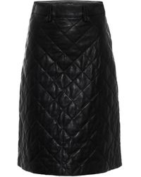 Dodo Bar Or Quilted Leather Pencil Skirt - Black