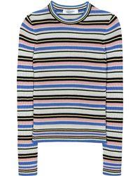Valentino Striped Cotton Jumper - Blue