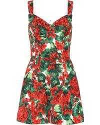 Dolce & Gabbana Combi-short en jacquard - Rouge