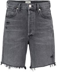 Citizens of Humanity Camilla Denim Shorts - Grey