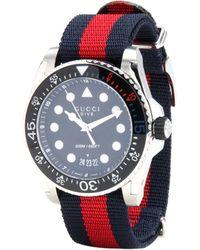 Gucci Reloj Dive XL 45mm - Azul