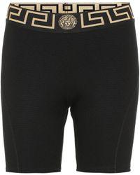 Versace Technical Biker Shorts - Black